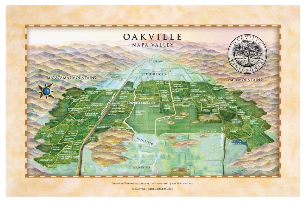 Oakville AVA Map